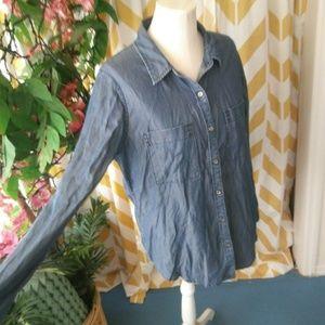 WHBM Size 12 Denim Chambray shirt